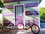 Guest Bicycles by our Historic Net House