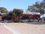 Restaurante  La Siesta. on the beach. Famous for its local fish dishes direct from the Mediterranean