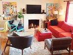 Living Room. Mid-Century Modern Furniture from JoyBird and LoveSac