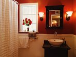 French Style Bathroom with ClawFoot Tub and Romantic Bath