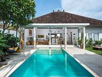 Villa is very quiet and homely. You will feel very relax and chill here.