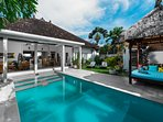 Amazing 300m2 villa in central Seminyak with big swimming pool, gazebo and open space living room
