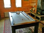 Dining Table doubles as a pool table