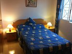 Master bedroom, air-condition with DVD player. Sea and park view