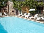 The delightful Private Pool is Fenced and can be Heated