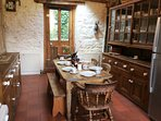 The well equipped Kitchen is great for planning the day's activities