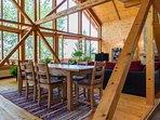 Open floor plan, dining & living room