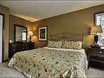 One Cozy King Bed is Featured in this Lovely Master En Suite