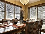 Dine in bright surroundings with lots of windows
