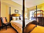 Master Bedroom has a Luxurious King Bed and a Flat Screen TV