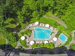 Aerial view of Pool facilities