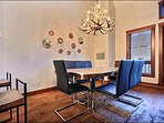 Elegant Dining Area Seats 8 Guests