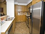 The Gourmet Galley Kitchen with Top of the Line Appliances