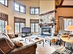The Stone Fireplace is Perfect for Getting Cozy and Relaxing in Front of