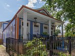 The Big Blue House is a renovated camelback  originally constructed in 1928 in the historic Marigny