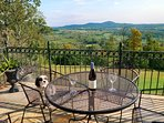 Enjoy views of the valley and mountains with a bottle of your favorite wine