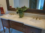 Upgraded bathrooms with modern fixtures