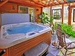 End your evenings relaxing in the soothing waters of the hot tub.