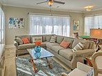 Look forward to relaxing on the comfy couches in the living area on the second floor.
