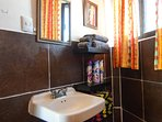 full bathroom, Linens and towels, Iron and ironing board