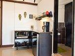 Kitchenette, Toaster, Microwave, Refrigerator, Coffee maker etc.