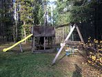 Backyard Fort and Swing set