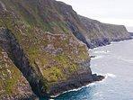 Sea cliffs near property