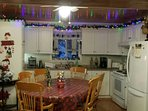even the kitchen is all decked out