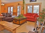 Vaulted Ceilings & Deck Access of the Living Room