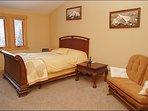 Master Bedroom - Queen, Loveseat, Vaulted Ceilings