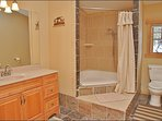 Master Bathroom with Dual Headed Shower & Jacuzzi Tub