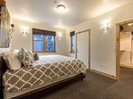 The master bedroom suite (sleeps 2) offers a king-size bed with luxury linens and bedding, walk-in closet, private...