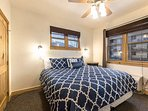 The guest bedroom (2) is equipped with a king-size bed, luxury linens and bedding, large closet, ceiling fan and...