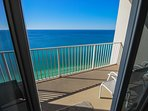 18-ft wide balcony, as oceanfront as it gets!