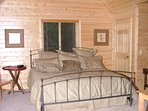 Loft has king bed plus its own bathroom, satellite TV, DVD and reading area.