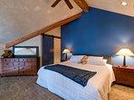 The loft has a king bed, as well as en suite bathroom.