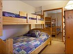 Bedroom 2 with Twin and Full Bunk Bed