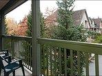 Balcone privato offre viste panoramiche sul cortile