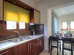 The kitchen is totally functional and fully equipped!