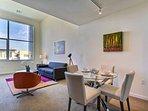 Open concept Living Area with top floor views!