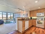 Fully equipped kitchen with open view into living area