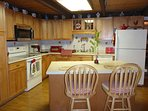Kitchen with Corian Countertops