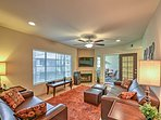 You'll feel right at home in the inviting living area.