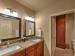 The full en suite bathroom, with shower, provides the utmost comfort and convenience.
