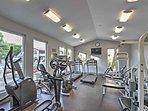 Take advantage of the impressive community fitness center!