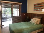 Second bedroom provides 1 x King Single bed and built in wardrobe