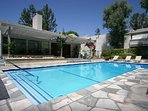 Swimming pool -uses the sun to heat itself
