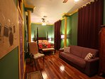 Mardi Gras Jr Suite at the R&B Bed and Breakfast on world famous Frenchmen Street