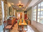 Breakfast Room at the R&B Bed and Breakfast on world famous Frenchmen Street