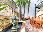 Courtyard at the R&B Bed and Breakfast on world famous Frenchmen Street